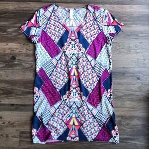 EVEREVE Allison Joy Geometric Print Dress